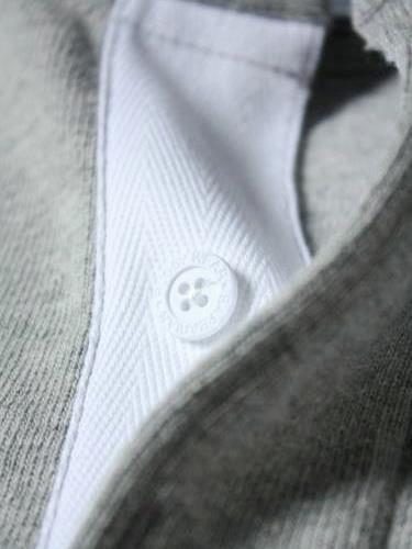 BARBARIAN ヘンリーネックラガーシャツ ソリッド mens