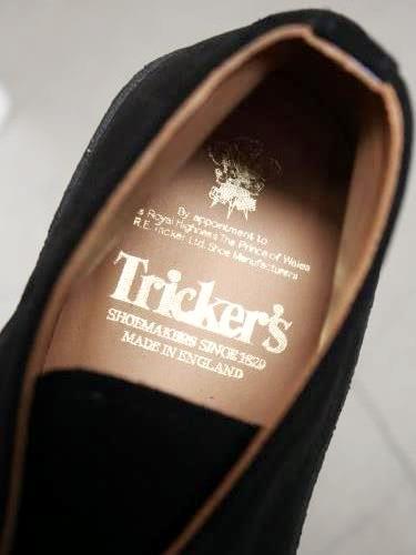 Tricker's マッドガード チャッカブーツ BLACK mens