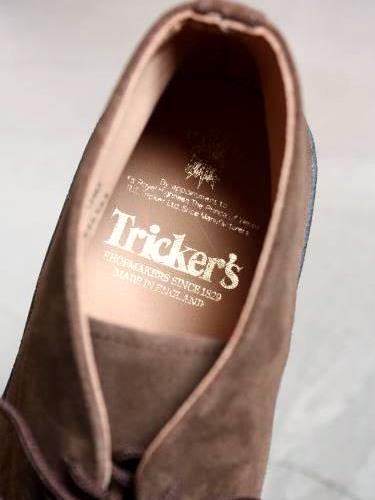 Tricker's マッドガード チャッカブーツ BROWN mens
