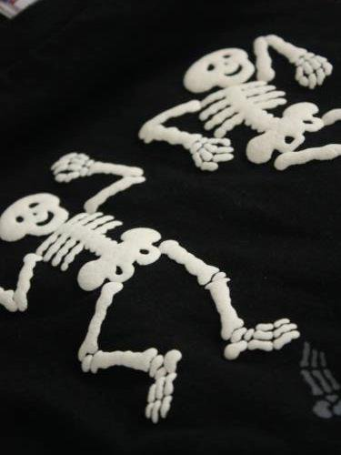 DUBBLE WORKS プリントTee 【DANCING SKELETONS】 mens