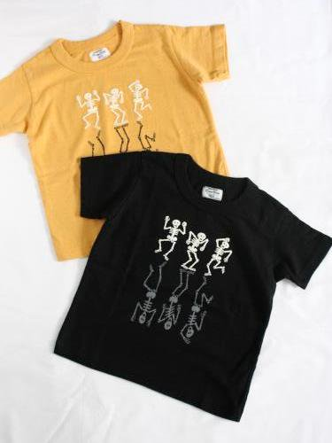 DUBBLE WORKS プリントTee 【DANCING SKELETONS】 kids