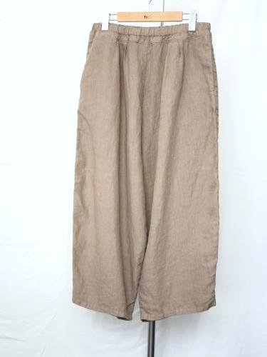 Ordinary fits BALL PANTS linen GREY ladies