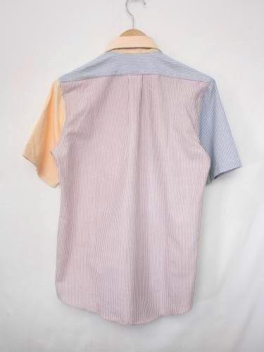 《50% OFF》 THE BAGGY オックスフォード 半袖ストライプシャツ mens