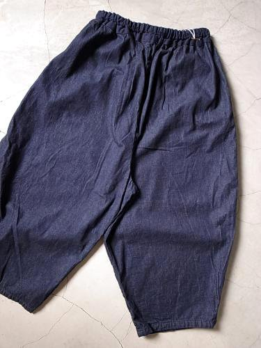 Ordinary fits BALL PANTS denim NAVY ladies