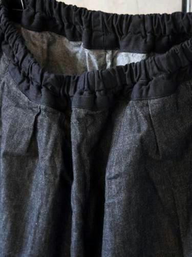 Ordinary fits BALL PANTS denim BLACK ladies