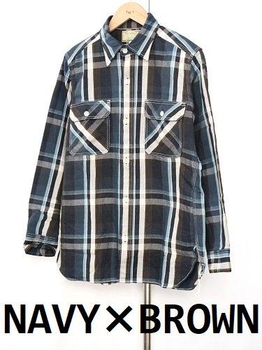 《30%OFF》KEATON CHASE R&VINTAGE フランネルワークシャツ mens