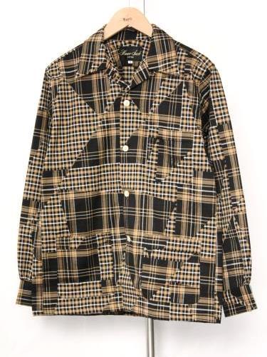 《30% OFF》 HAVERSACK ATTIRE パッチワークチェック シャツジャケット mens