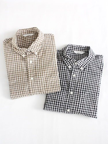 STILL BY HAND ギンガムチェックBDシャツ mens