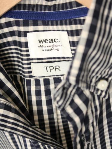 《30%OFF》 Tapir別注 weac. ベーシックチェックシャツ mens