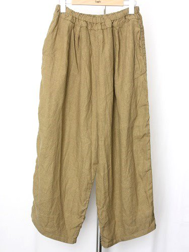 Ordinary fits BALL PANTS linen CAMEL ladies