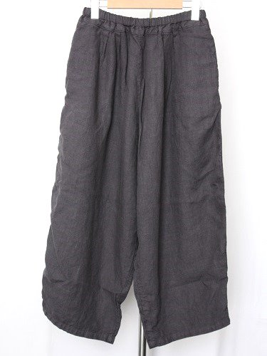 《30% OFF》 Ordinary fits BALL PANTS linen BLACK ladies