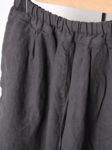 Ordinary fits BALL PANTS linen BLACK ladies