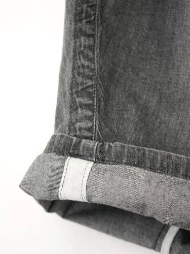 Ordinary fits BALL PANTS denim BLACK USED ladies