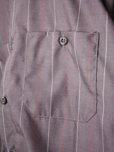 REDKAP ストライプ半袖ワークシャツ mens