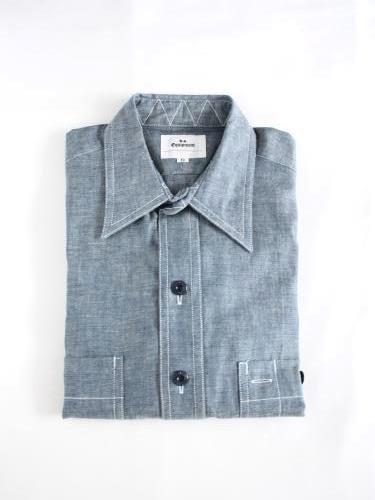 《30%OFF》 HS EQUIPMENT シャンブレーワークシャツ unisex