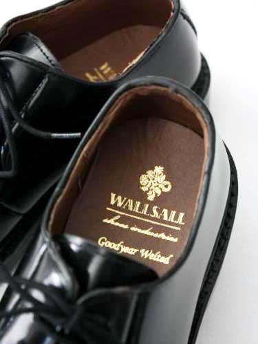 WALLSALL プレーントゥレザーシューズ BLACK mens