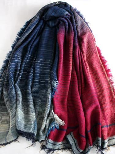 tamaki niime 玉木新雌 roots shawl wool×cotton big リバーシブル