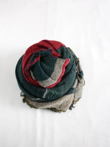 tamaki niime 玉木新雌 roots shawl wool × cotton middle リバーシブル