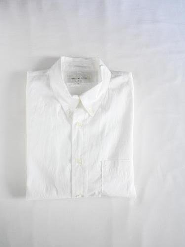 STILL BY HAND スタンダードBDシャツ WHITE mens