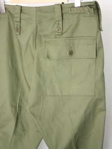 イギリス軍 ファティーグパンツ ポケット付 USED unisex