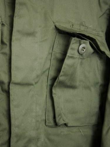 U.S.ARMY BDU JACKET DEADSTOCK OLIVE unisex