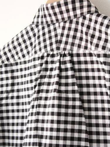 HAVERSACK ブロックチェックラウンドカラーシャツ mens