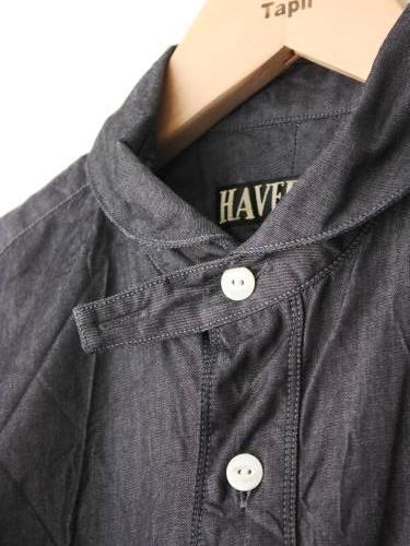 HAVERSACK ライトデニムラウンドカラーシャツ unisex