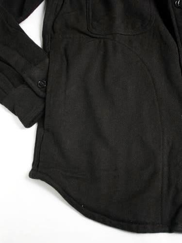 BIGMIKE ヘビーフランネルシャツ ソリッド mens