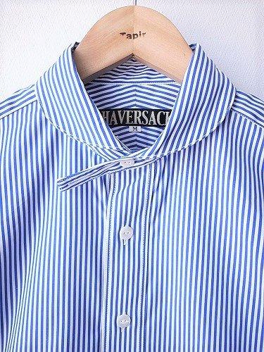 Tapir別注 HAVERSACK ラウンドカラーストライプシャツ unisex