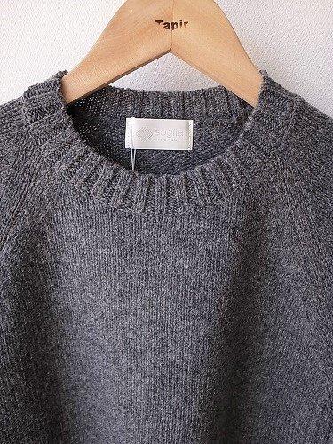 soglia エルボーパッチ ラドナーセーター mens
