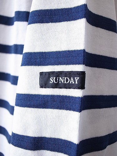 《30% OFF》 Le minor by DAILY WARDROBE INDUSTRY ボーダーバスクシャツ lightweight white×marine/SUNDAY unisex