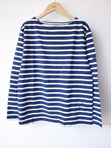 《30% OFF》 Le minor by DAILY WARDROBE INDUSTRY ボーダーバスクシャツ lightweight marine×white/SATURDAY unisex