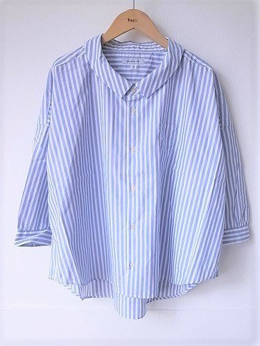 Ordinary fits BARBER SHIRTS STRIPE ladies