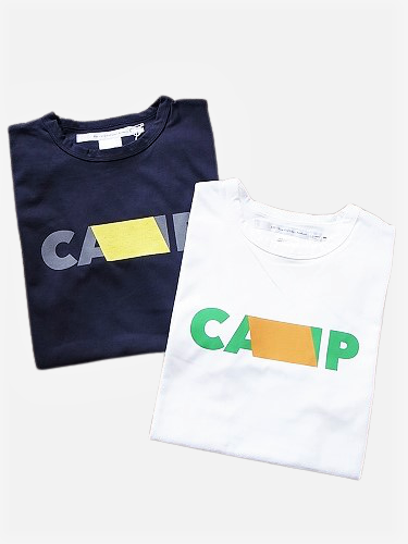 EEL products プリントTee 【CAMP】 unisex
