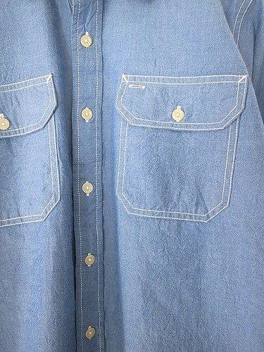 CAMCO シャンブレーワークシャツ BLUE mens