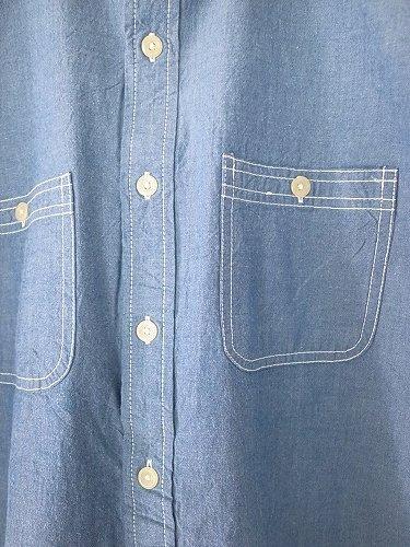 CAMCO 半袖シャンブレーワークシャツ BLUE mens