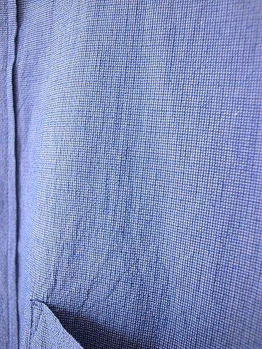 STILL BY HAND バンドカラーシャツ BLUE mens
