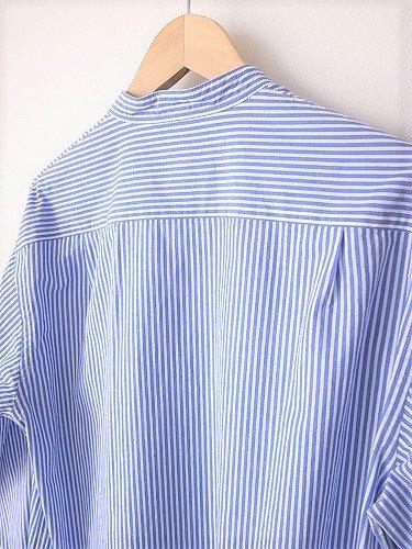 STILL BY HAND バンドカラーシャツ STRIPE mens