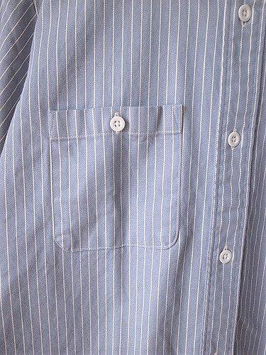 BIGMIKE 半袖ヒッコリーシャツ mens