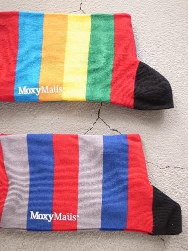 Moxy Maus ソックス マルチボーダー  mens