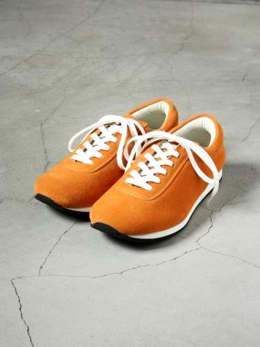 《30% OFF》blueover mikey スウェードスニーカー ORANGE unisex