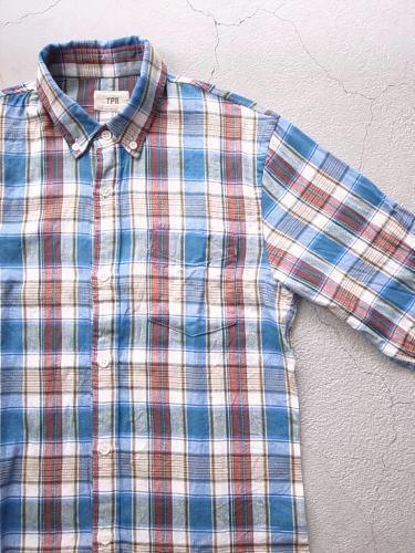 《30% OFF》 TPR ライトネル チェックB.Dシャツ unisex
