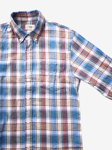 《50% OFF》 TPR ライトネル チェックB.Dシャツ unisex