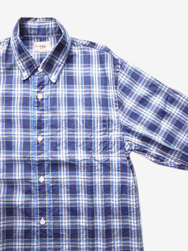 《50%OFF》TPR チェックB.Dシャツ NAVY × YELLOW unisex