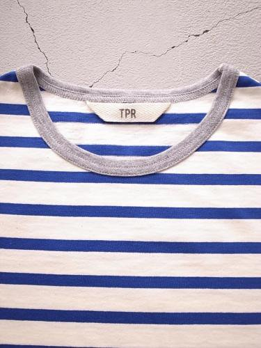 《SPECIAL PRICE》 TPR ボーダーカットソー ECRU × BLUE unisex