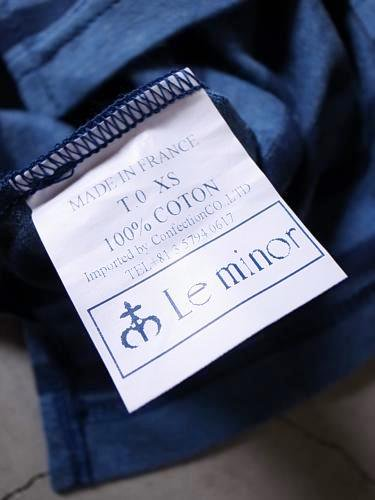 《30% OFF》 Le minor by DAILY WARDROBE INDUSTRY ボーダーバスクシャツ jean × marine unisex