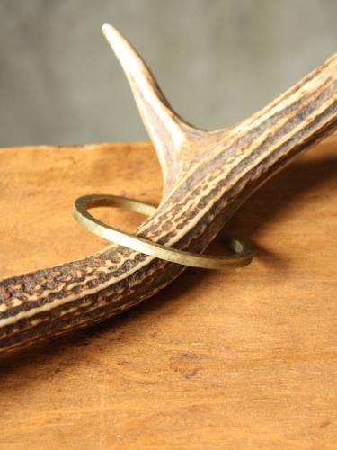 Slow Rise hammer finish brass bangle 2 unisex