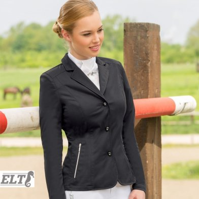 ELT 競技用ショージャケット 短ショート丈 WJL2 [レディース] 女性用 じょうらん(ブラック 黒)