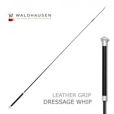 本革レザーグリップ 長鞭 ロングムチ LWA1(黒ブラック) Waldhausen ムチ