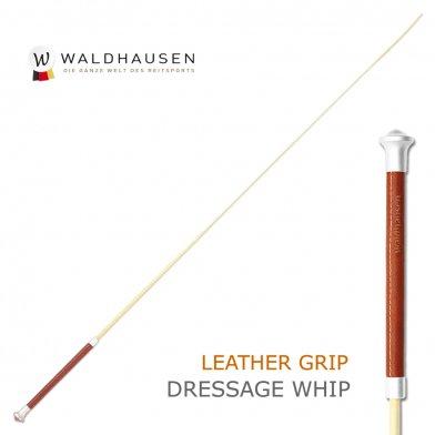 本革レザーグリップ 長鞭 ロングムチ LWA2(ブラウン×ベージュ) Waldhausen ムチ